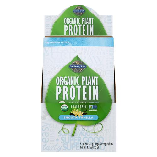 Garden of Life Bio-Pflanzenproteinpulver - Vanille - 5 Päckchen
