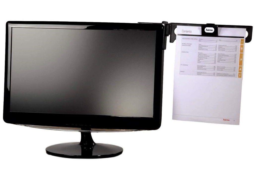 Hama »Konzept-Halter Dokumenten-Halterung Vorlagen-Halter Lese-Ständer PC Monitor« Auslegearm, (Befestigung ohne Bohren)