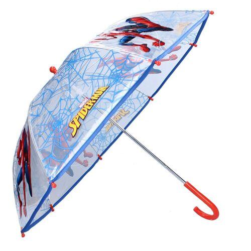 Spiderman Stockregenschirm »Kinder Regenschirm, ∅ 73 cm, transparent/blau«