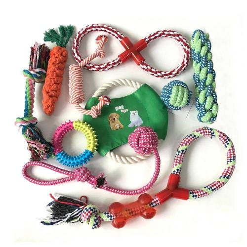 esyBe Kauspielzeug »Hundespielzeug 10-teilig Kauspielzeug für Welpen & kleine Hunde interaktiv bunt Hunde Spielzeug Tauschspielzeug«, (10-tlg)