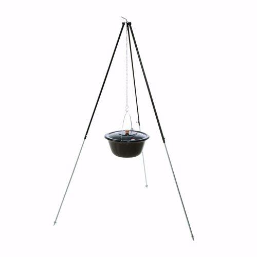 acerto® Feuerstelle »Gulaschkessel 14L + Dreibein-Gestell (180cm)«