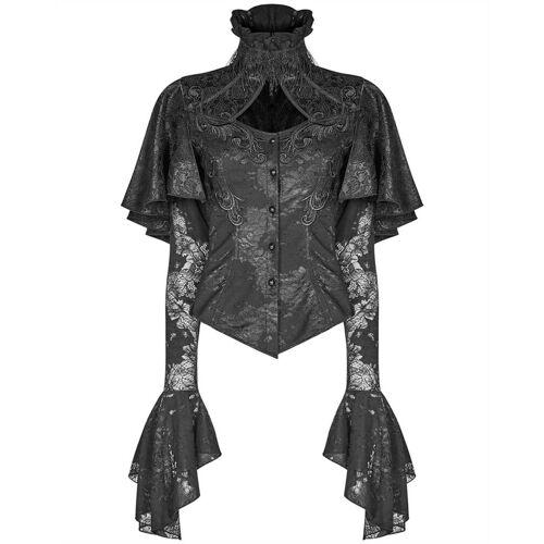 Punk Rave Rüschenbluse »Elegante Bluse von schwarz«