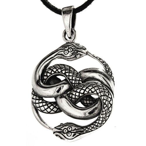 Kiss of Leather Kettenanhänger »Schlangen Anhänger 925 Sterling Silber Schlange Snake zwei Knoten«