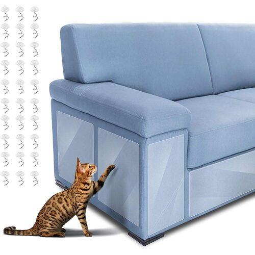 kueatily Aufkleber »6 Stück Katzen Kratzschutz, Kratzschutz Couch Möbelschutz Kratzschutz für Katze Hund mit Transparente Kratzschutz Krallenabwehr für Ihre Möbel, Sofa, Tür (2 Größen: 14*48cm/30*45cm)«