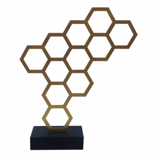 KUNSTLOFT Dekofigur »Goldener Honig«, handgefertigte Figur aus Kunststein