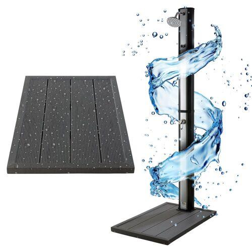 Arebos Outdoor-Bodenplatte »Bodenelement für Solarduschen«, Anthrazit, Maße: 101 x 63 x 5,5 cm