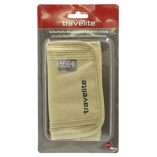 travelite Brustbeutel »Sicherheits-Brustbeutel RFID 19 cm«, beige