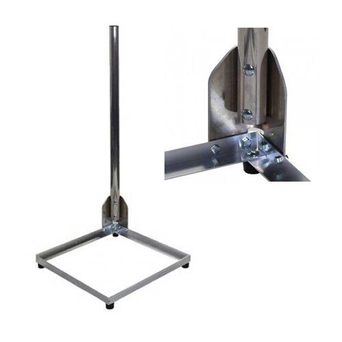 PremiumX »Balkonständer Alu 40x40cm mit 1m Mast Ø 50mm mit Eck Halterung für Satellitenschüssel Flachdach« SAT-Halterung