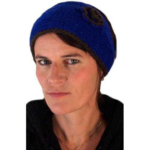 Guru-Shop Stirnband »Stirnband aus Wolle - blau«
