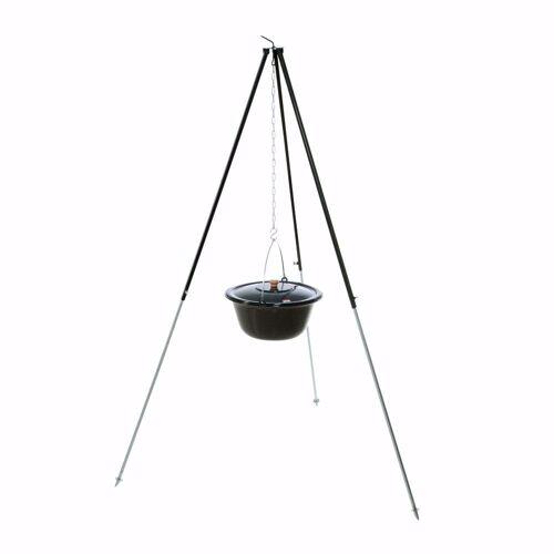 acerto® Feuerstelle »Gulaschkessel 30L + Dreibein-Gestell (180cm)«