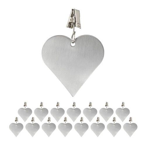 relaxdays Dekohänger »16 x Tischdeckenbeschwerer Herz«