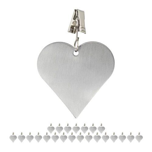 relaxdays Dekohänger »24 x Tischdeckenbeschwerer Herz«