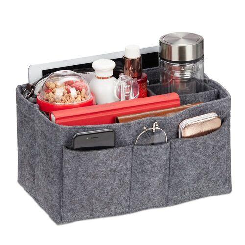relaxdays Handtasche »Taschenorganizer Handtasche Filz«