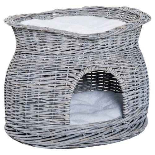 PawHut Tierhöhle »Katzenkorb mit 2 Kissen«