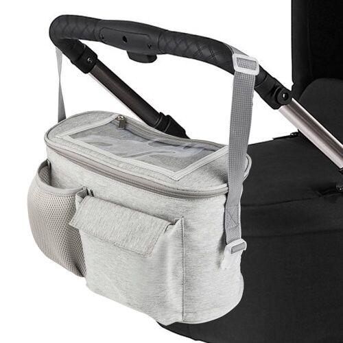ONVAYA Kinderwagen-Tasche »Kinderwagen Organizer, grau oder schwarz, Kinderwagentasche«, Grau