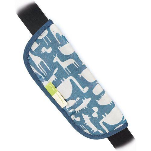 priebes Tragegurt »ARTUR Gurtpolster für Autogurte - Stars, grau«, blau