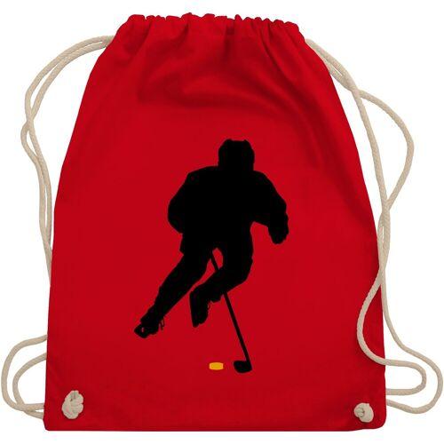 Shirtracer Turnbeutel »Eishockey Spieler - Eishockey - Turnbeutel«, 2 Rot