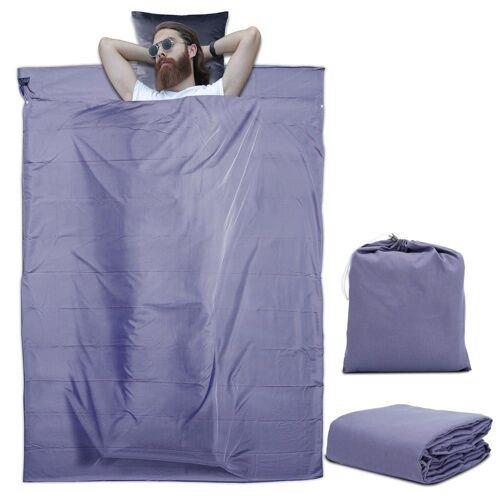 Intirilife Schlafsack »Schlafsack Reiseschlafsack Kissen Decke«, Dünner Hüttenschlafsack Reiseschlafsack, Lila