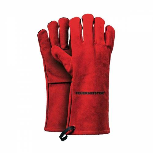 Feuermeister Grillhandschuhe »Premium BBQ Grillhandschuhe aus Spaltleder in Rot Größe 10«