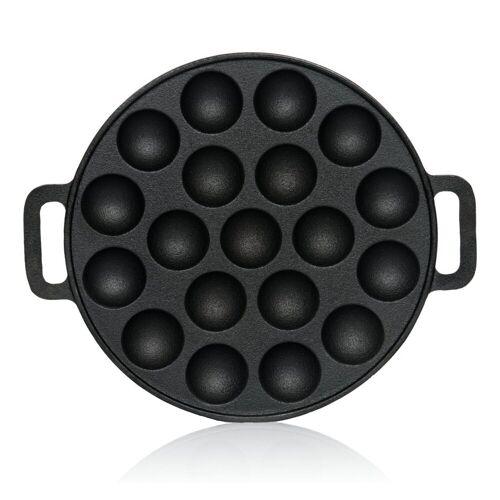 BBQ-Toro Grillplatte »Gusseisen Poffertjes Pfanne, Förtchenpfanne für 19 Förtchen, Ø 24 cm«
