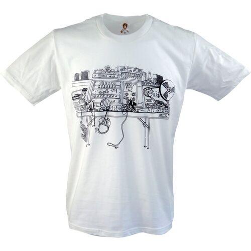 Guru-Shop T-Shirt »Fun T-Shirt - Mischpult«, Mischpult