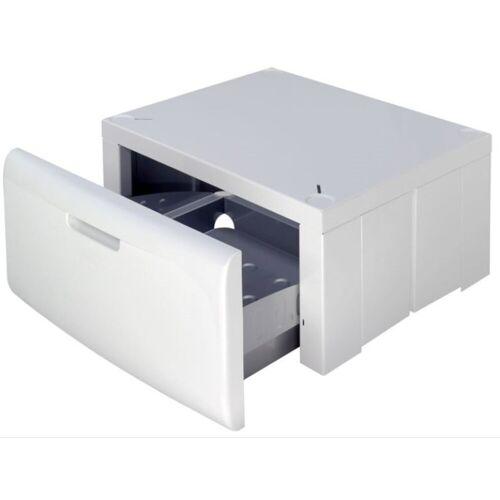 Bauknecht Waschmaschinenuntergestell AMC 907 Universal Waschmaschinensockel Podest mit Schublade, Passend auf Ihre Waschmaschine einstellbar