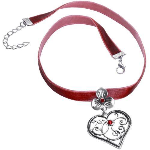tectake Halsband »Halskette Bergkristall«, rot