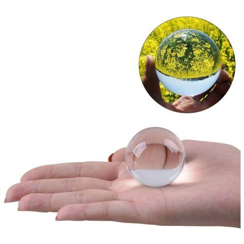 kueatily Kristallanhänger »Kristallkugel Glaskugel Klar für Feng Shui Fotografie Meditation Hochzeit Home Office Dekoration 5 cm (Transparent Wei)«