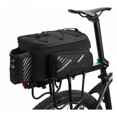ROCKBROS Fahrradtasche »Gepäcktasche Gepäckträgertasche Fahrradtasche mit Regenschutz, schwarz«, mit Tragegurt