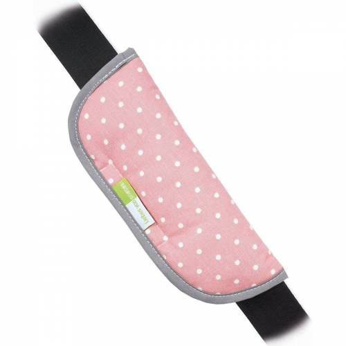 priebes Tragegurt »ARTUR Gurtpolster für Autogurte - Stars, grau«, rosa