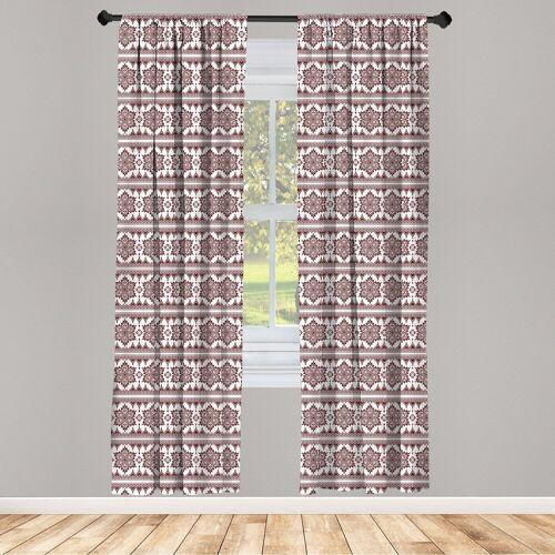 Abakuhaus Gardine »Vorhang für Wohnzimmer Schlafzimmer Dekor«, , Brown Mandala Art-Kunst
