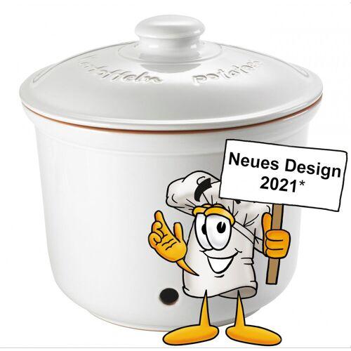 RÖMERTOPF Römertopf »Römertopf MAXI PLUS Kartoffel-Frische-Topf Weiß«, Ton glasiert