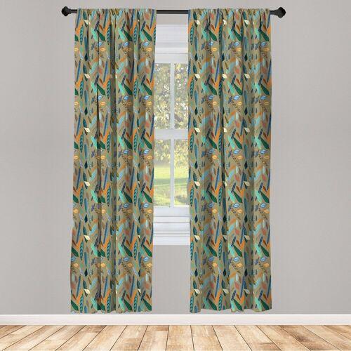 Abakuhaus Gardine »Vorhang für Wohnzimmer Schlafzimmer Dekor«, , Feder Feder
