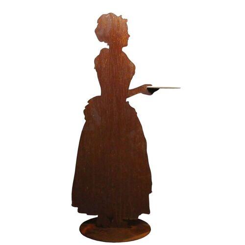 440s Dekoobjekt »Rost-Figur barockes Kakao-Mädchen mit Tablett«