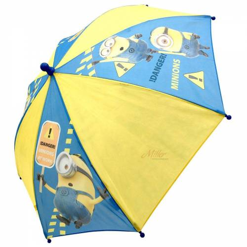 Minions Stockregenschirm »Kinder Regenschirm, 65 cm, blau/gelb«