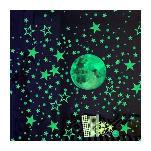 kueatily Aufkleber »Hauserlin Wandaufkleber, selbstklebender Wandaufkleber, 435 leuchtende Sterne / leuchtende Punkte für Ihren Sternenhimmel und fluoreszierende Aufkleber für Kinderzimmer«