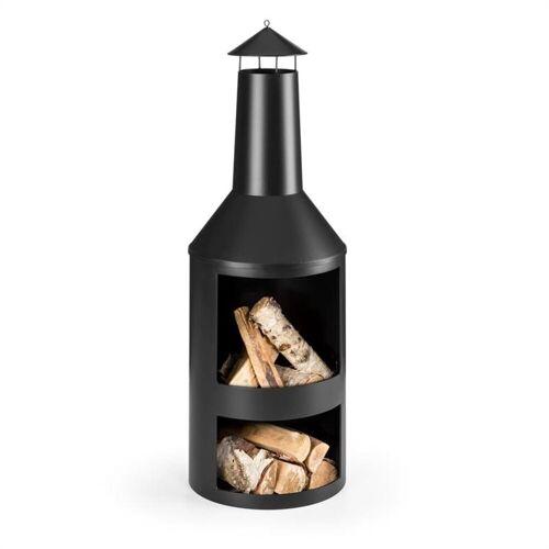 blumfeldt Feuerstelle »Westeros Gartenofen Terrassenofen Holzofen Ø45cm Stahlblech schwarz«, gemütlicher Kaminofen für prasselnde Holzfeuer im Garten oder auf der Terrasse