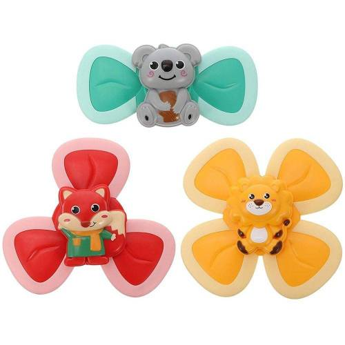 kueatily Zerrspielzeug »3pcs Saugnapf Spinner Spielzeug Cartoon Tier Spin Sucker Spinner Spielzeug Tischsauger Gameplay Früherziehung Spielzeug Badespielzeug für Baby Kinder«