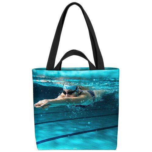 VOID Henkeltasche (1-tlg), Schwimmerin Athletin Sport Schwimmen Schwimmbad Urlaub Pool Schwimmen