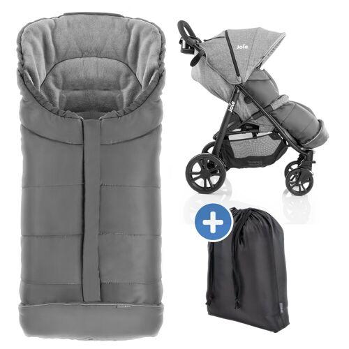 Zamboo Fußsack »Grau«, Winter - Fußsack Baby für joie Buggy & Sportwagen
