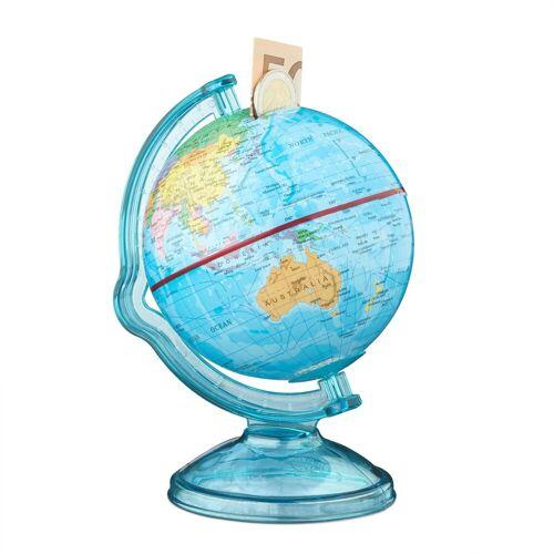 relaxdays Spardose »Spardose Globus drehbar«