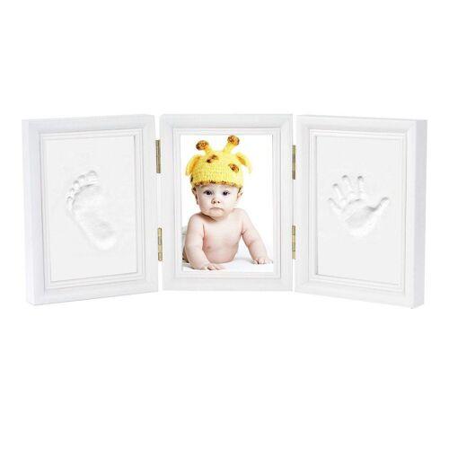 kueatily Neugeborenen-Geschenkset »Baby Hand und Fuß Bilderrahmen - Baby Handabdruck und Baby Fußabdruck DIY Set Druck von Rahmen Geschenk (3 Stück, wei)«