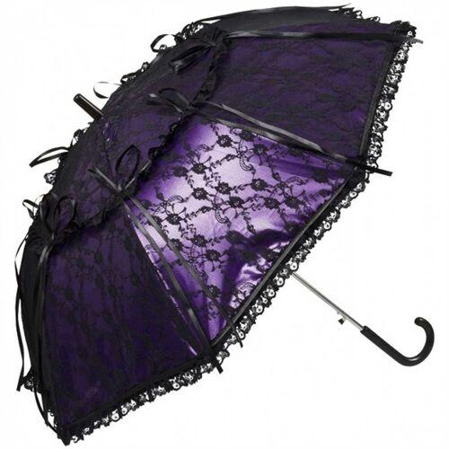 von Lilienfeld Stockregenschirm »Hochzeitsschirm melissa«, Spitze, Violett