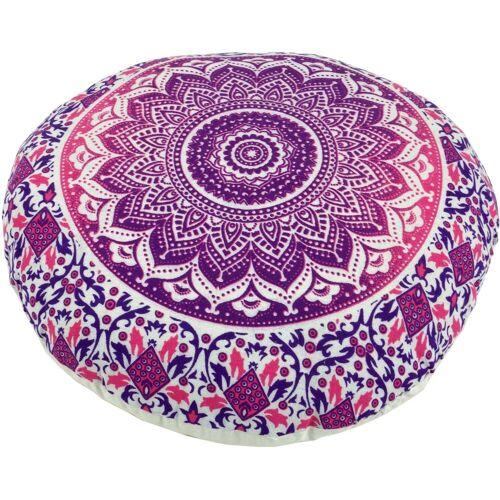 Guru-Shop Meditationskissen »Flaches Mandala Meditationskissen, Yoga Kissen,..«, pink
