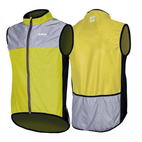 WOWOW Fahrradjacke »Wind-Jacke Dark 1.1 gelb/grau reflektierend«