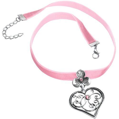tectake Halsband »Halskette Bergkristall«, rosa