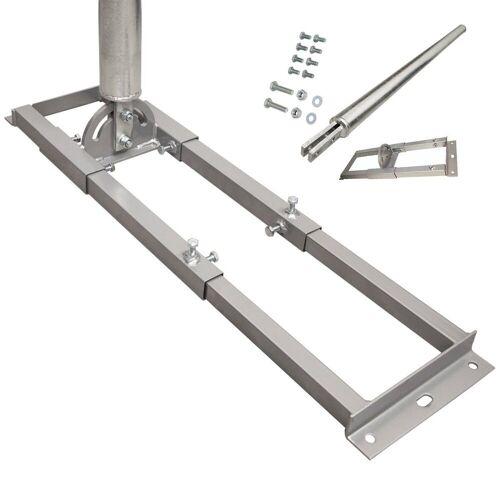 PremiumX »PROFI X100-60 SAT Dachsparrenhalter 100 cm Mast 60 mm Stahl feuerverzinkt Sparren-Halterung für Satelliten-Antenne Satellitenschüssel« SAT-Halterung