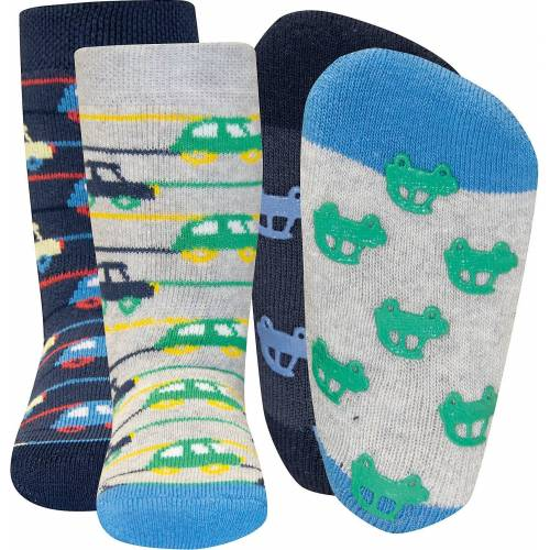 Ewers Haussocken »Socken ABS Doppelpack für Jungen, Autos«