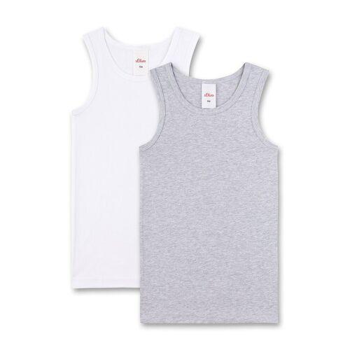 s.Oliver Unterhemd »Jungen Unterhemd 2er Pack - Shirt ohne Arme,«, Weiß/Grau