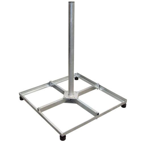 PremiumX »Balkonständer Stahl 4 X 30 X 30 TWD Holland mit Mast / Sat Flachdachständer für Satellitenschüssel« SAT-Halterung